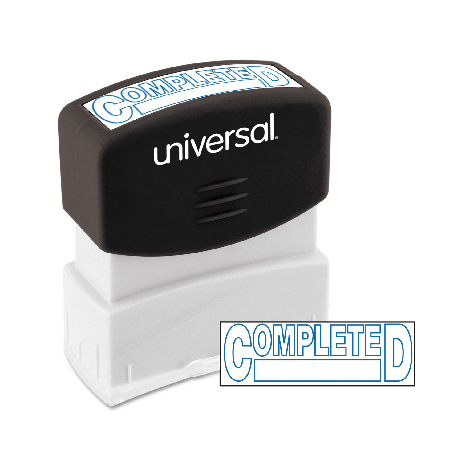Message Stamp, COMPLETED, Pre-Inked One-Color, Blue Ink