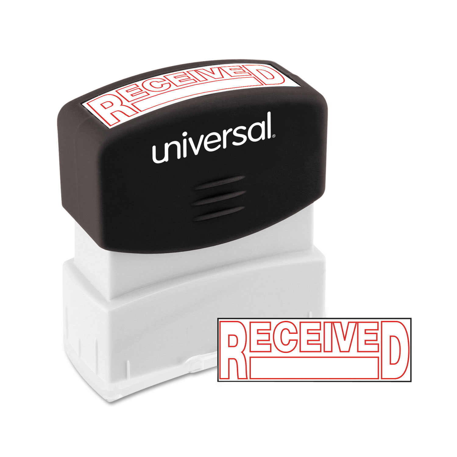 Message Stamp, RECEIVED, Pre-Inked One-Color, Red