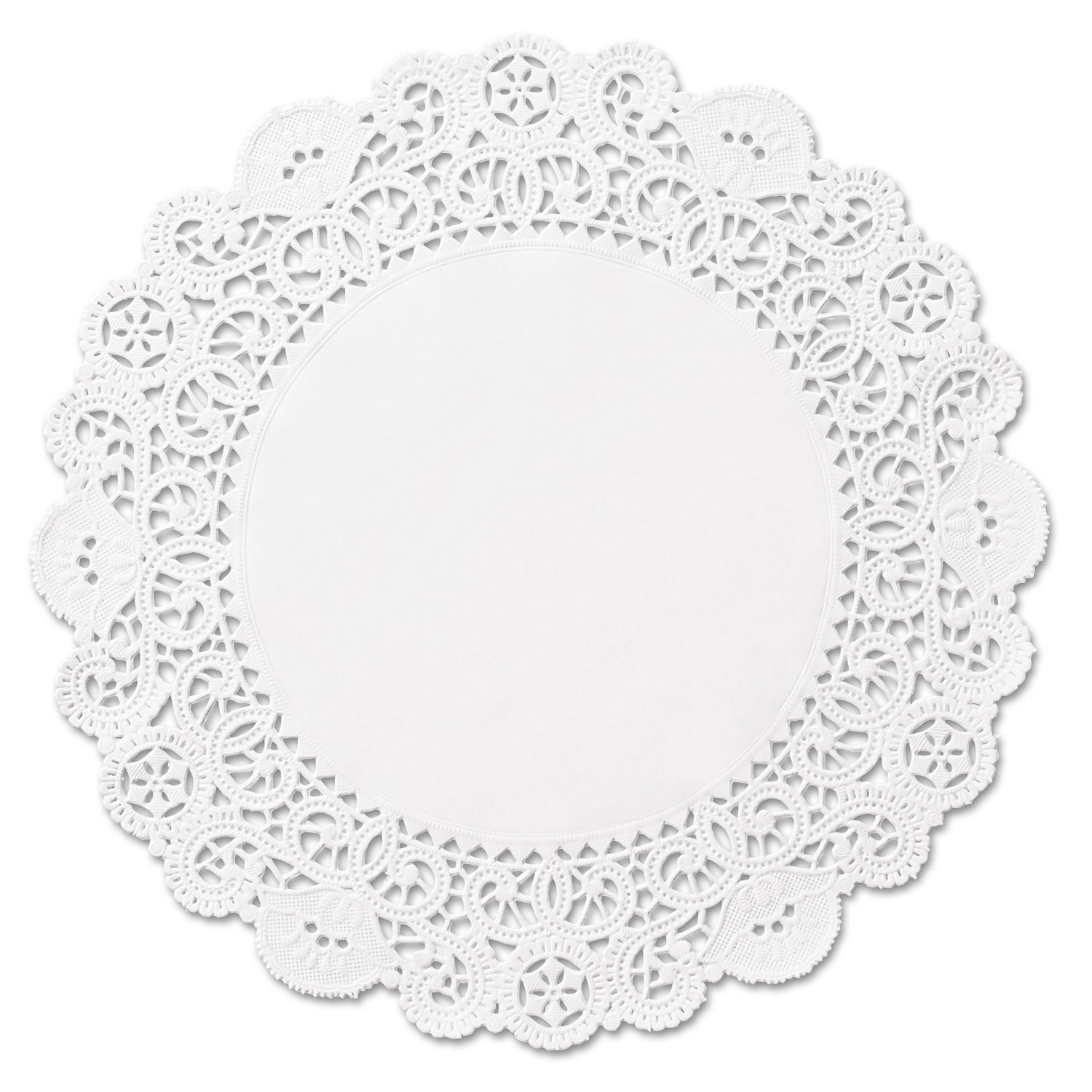 Brooklace Lace Doilies, Round, 4, White, 2000/Carton