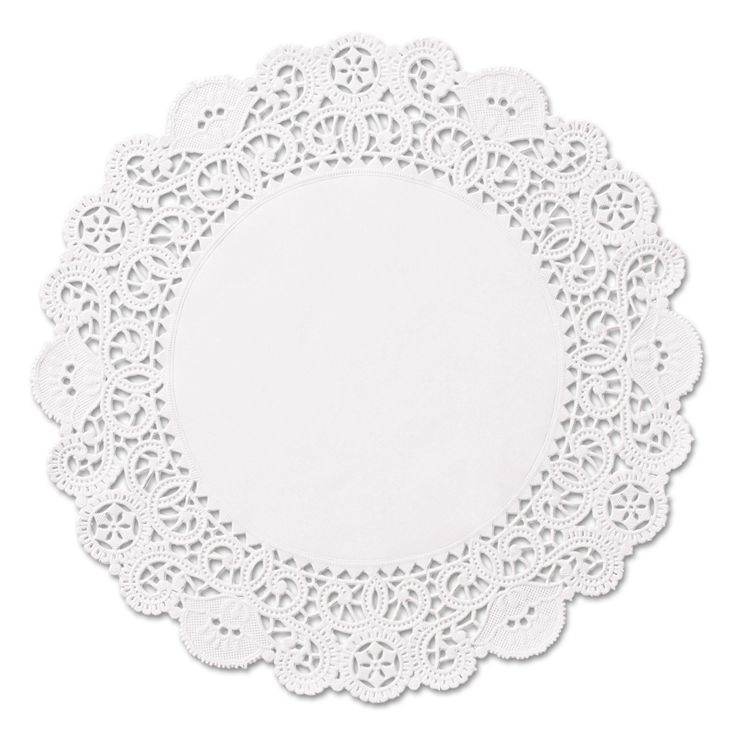 Brooklace Lace Doilies, Round, 5, White, 2000/Carton