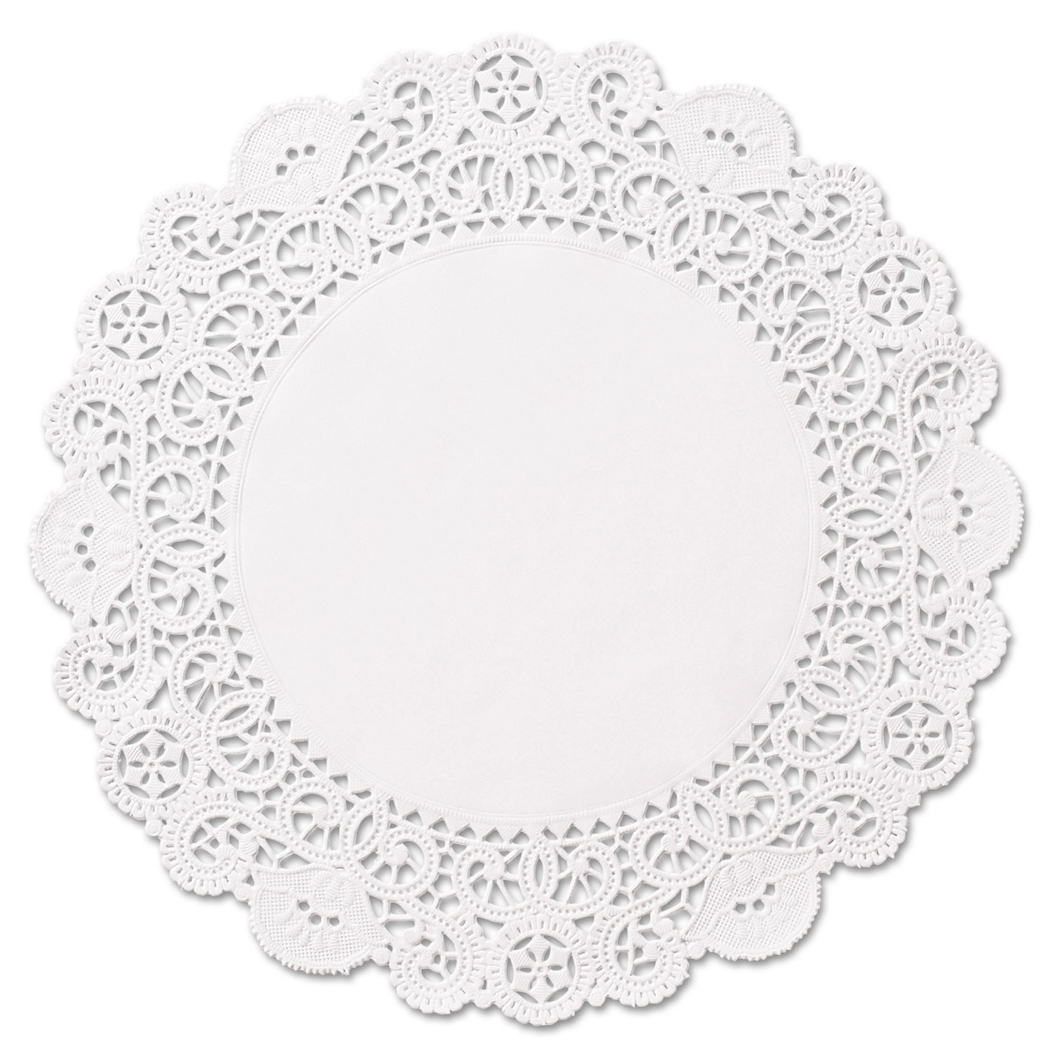 Brooklace Lace Doilies, Round, 6, White, 2000/Carton