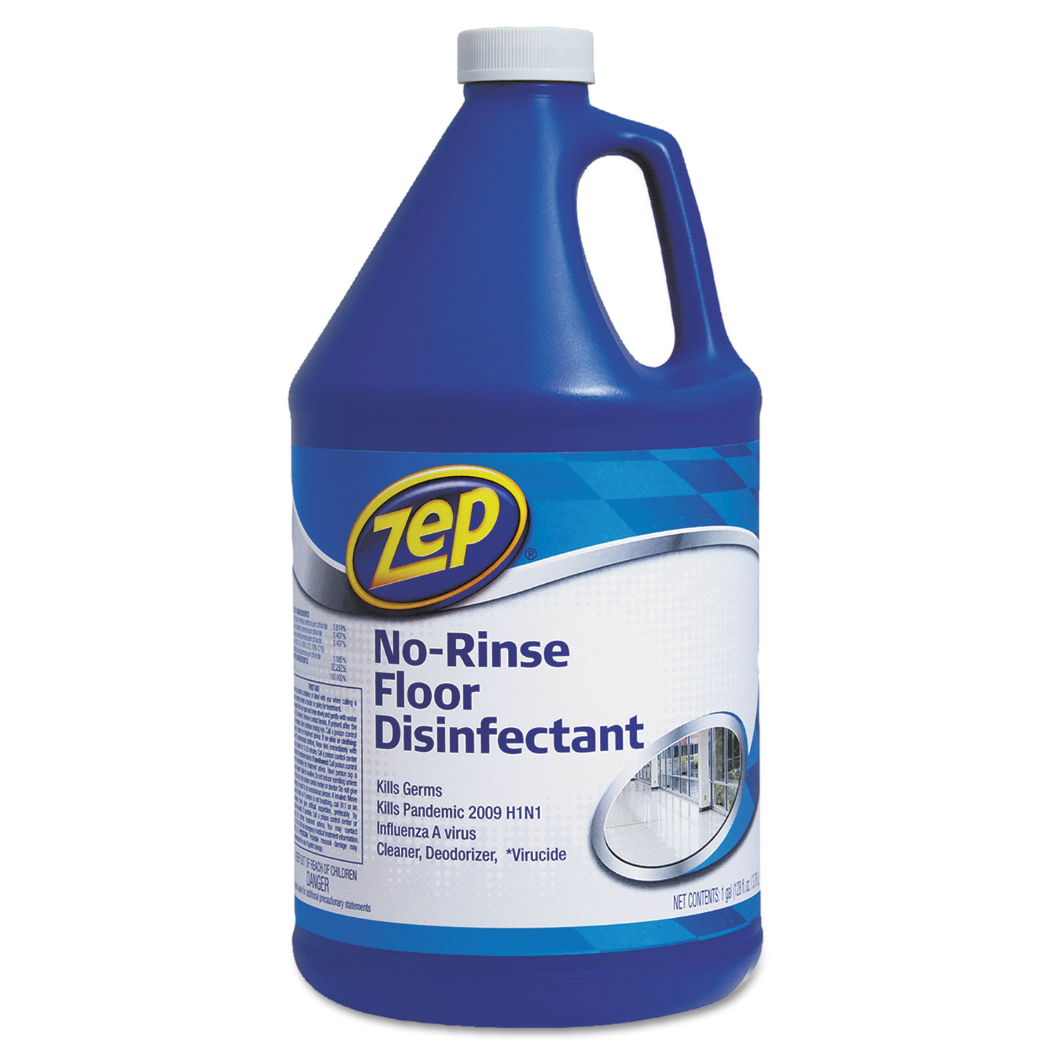 No-Rinse Floor Disinfectant, 1 Gal Bottle