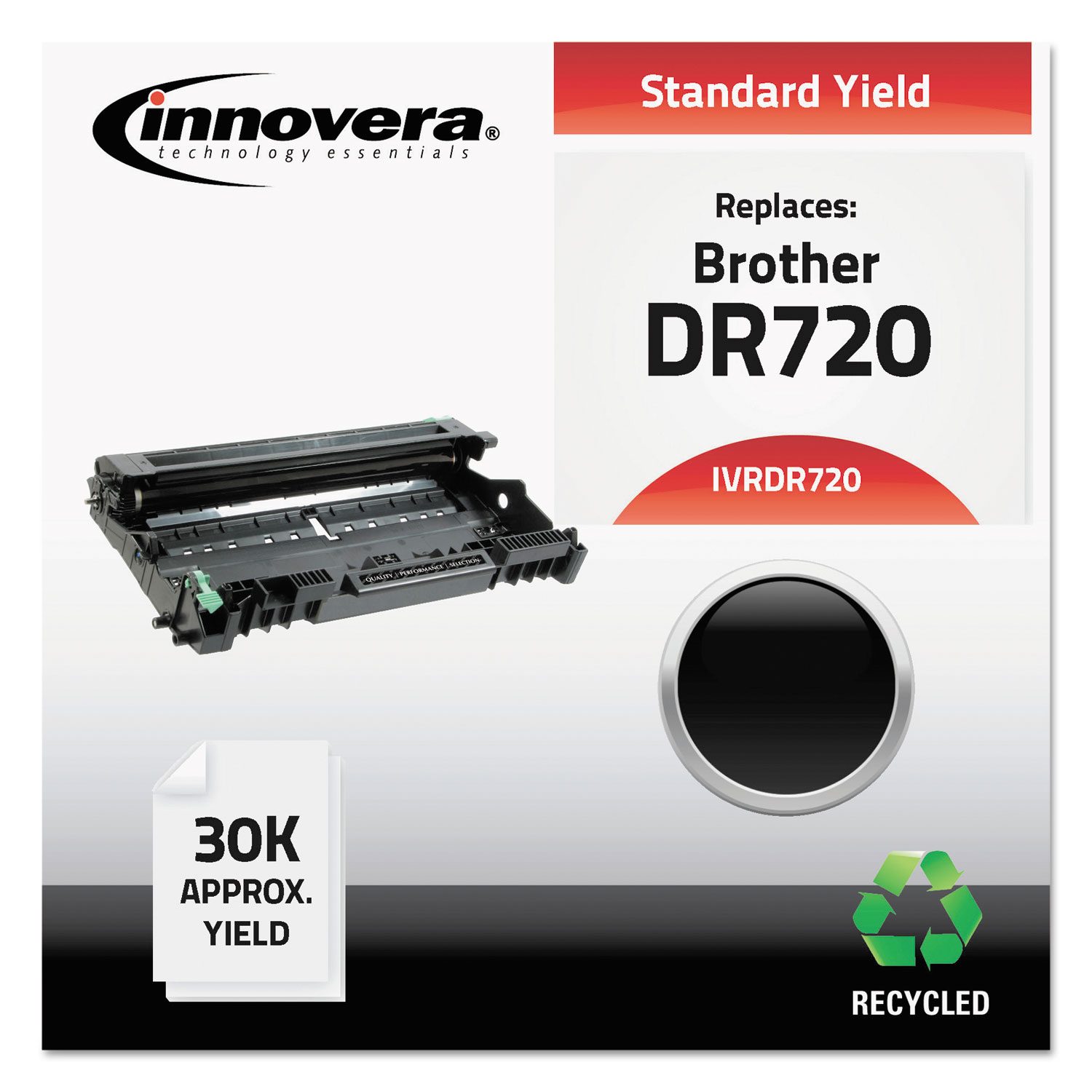 Remanufactured DR720 Drum Unit, 30000 Page-Yield, Black