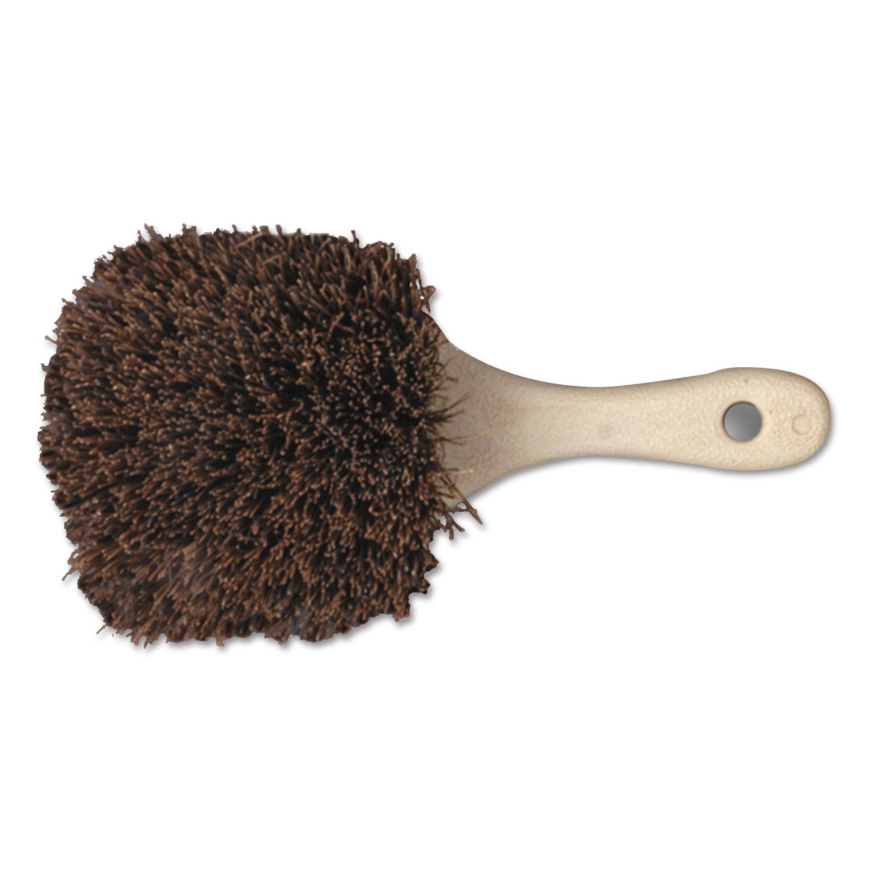 "Utility Brush, Palmyra Bristle, Plastic, 8 1/2"", Tan Handle"