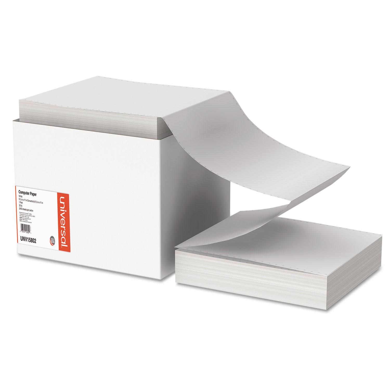 Printout Paper, 1-Part, 20lb, 9.5 x 11, White, 2, 400/Carton