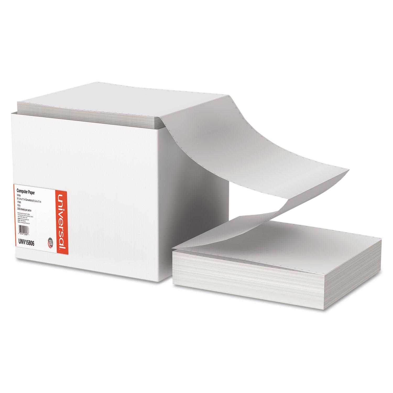 Printout Paper, 1-Part, 15lb, 9.5 x 11, White, 3, 300/Carton