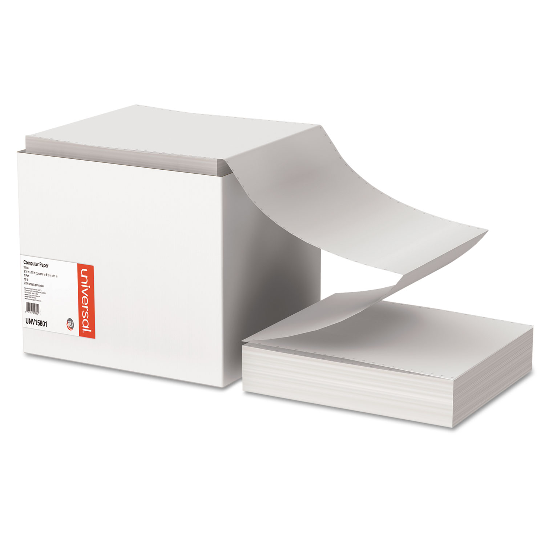 Printout Paper, 1-Part, 18lb, 9.5 x 11, White, 2, 700/Carton
