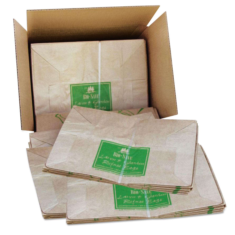 Paper Lawn Leaf Bag 50lb Kraft Wet Strength 16 X 12 35 50 Bags