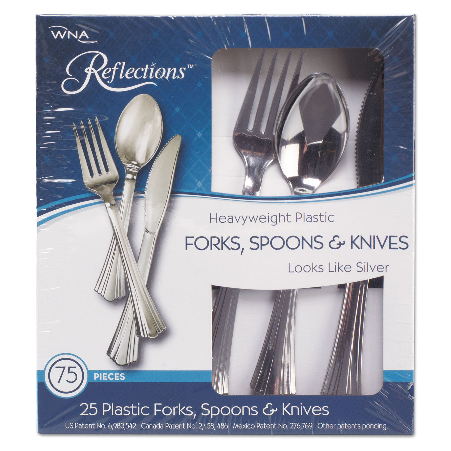 Heavyweight Plastic Cutlery Combo: Fork, Knife, Spoon