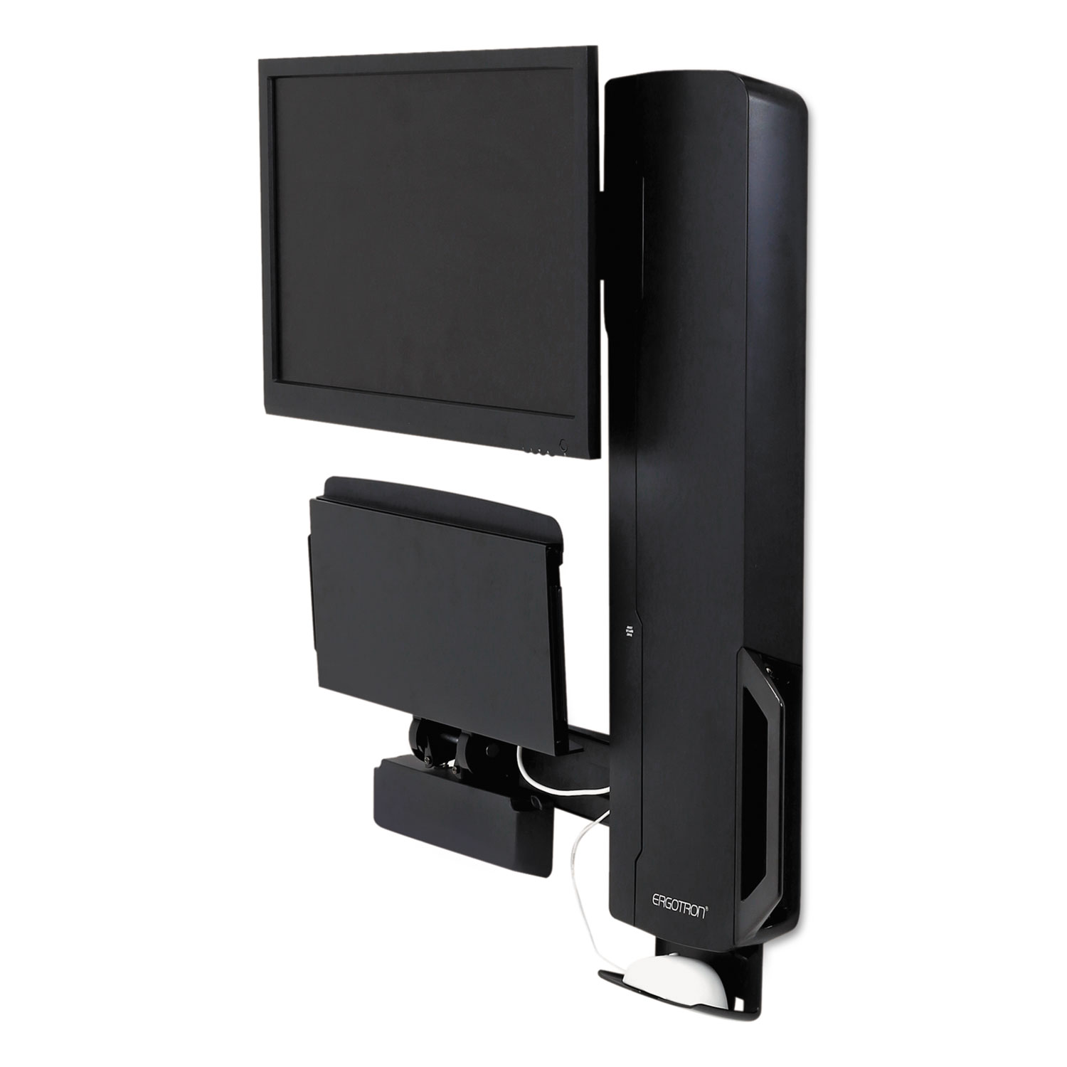 StyleView Sit-Stand Vertical Lift For High Traffic Areas, Black