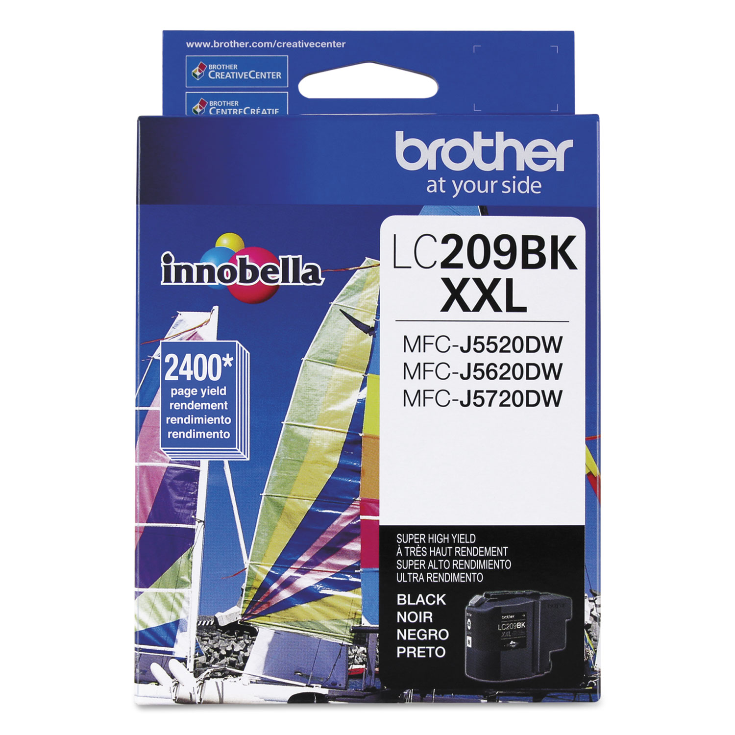 LC209BK Innobella Super High-Yield Ink, 2400 Page-Yield, Black