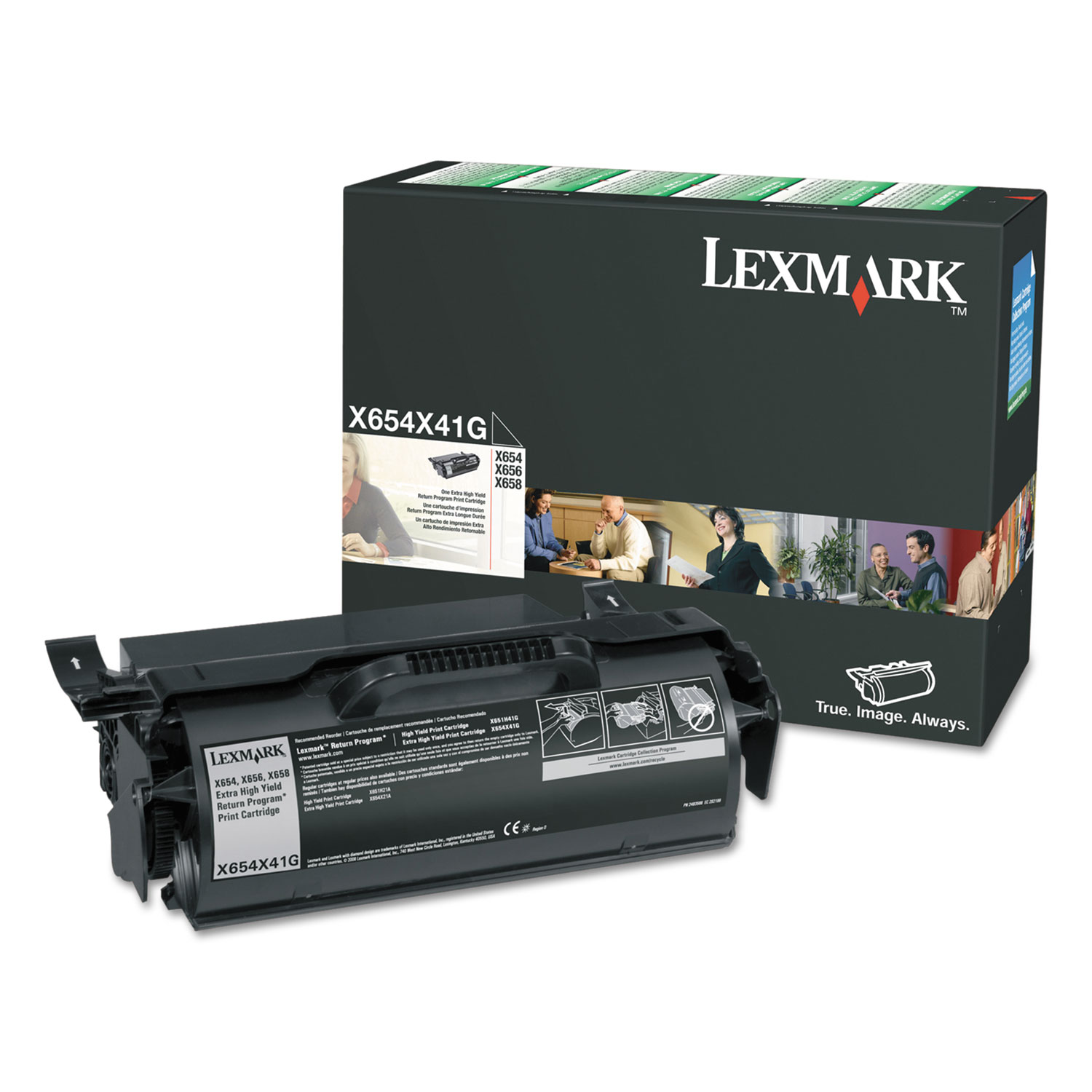 X654X41G (X65X) Return Program Extra High-Yield Toner, 36000 Page-Yield, Black