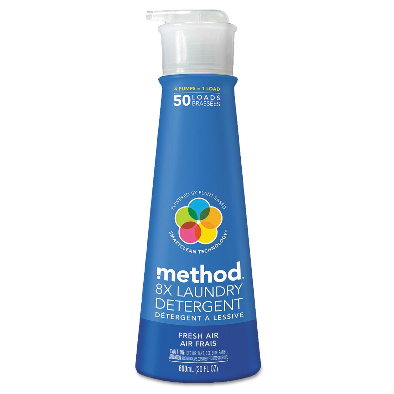 8X Laundry Detergent, Fresh Air, 20 oz Bottle