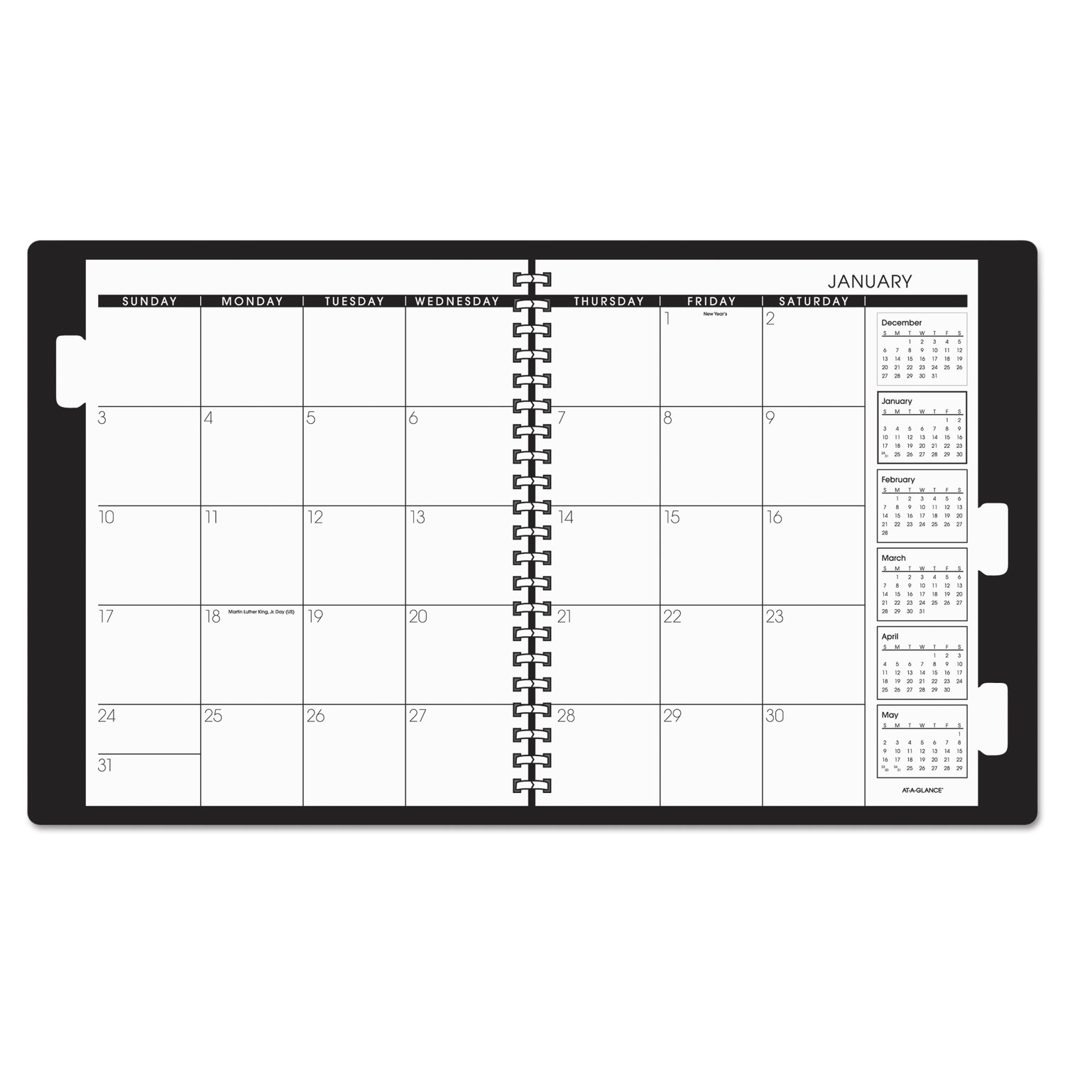 refillable multi year monthly planner by at a glance aag7029605
