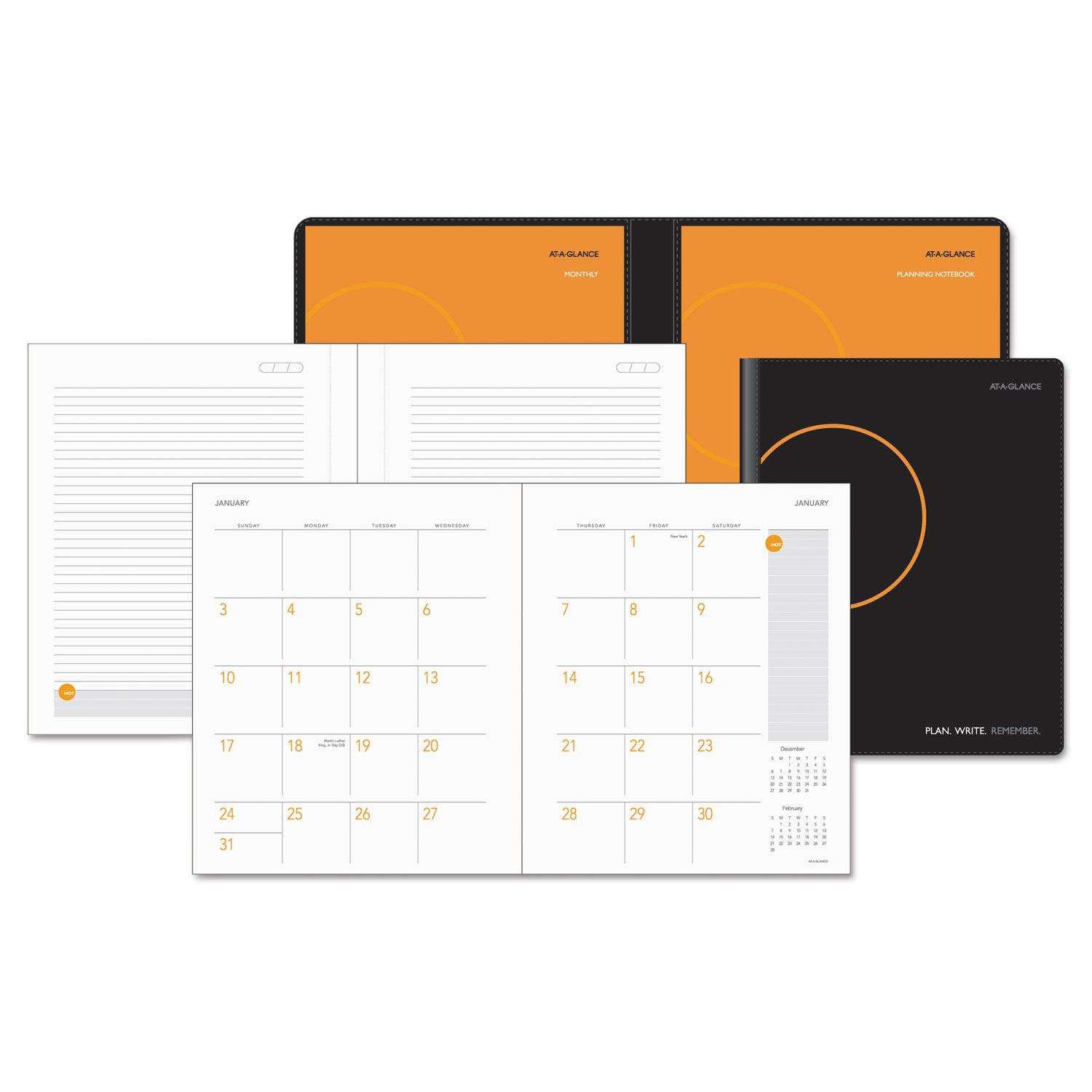 plan write remember academic monthly planner by at a glance