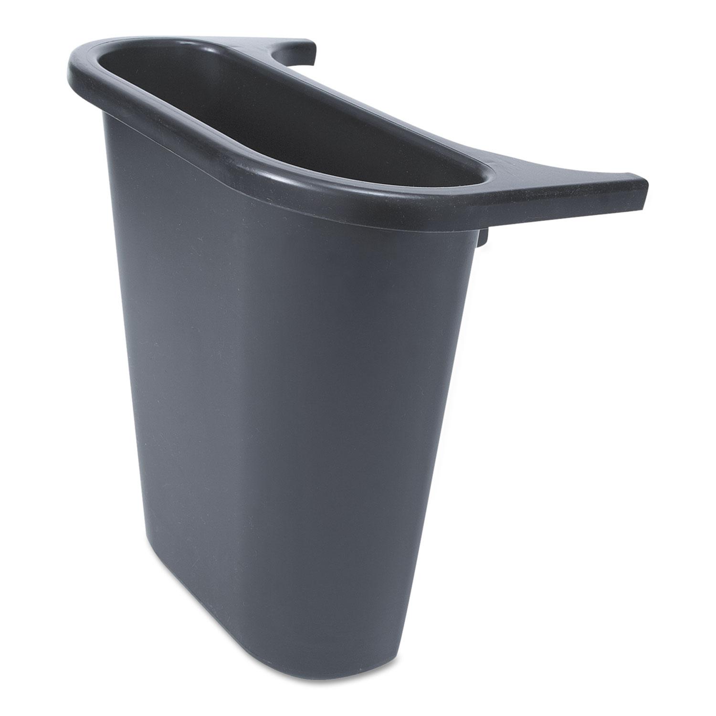 Saddle Basket Recycling Bin, Rectangular, Black