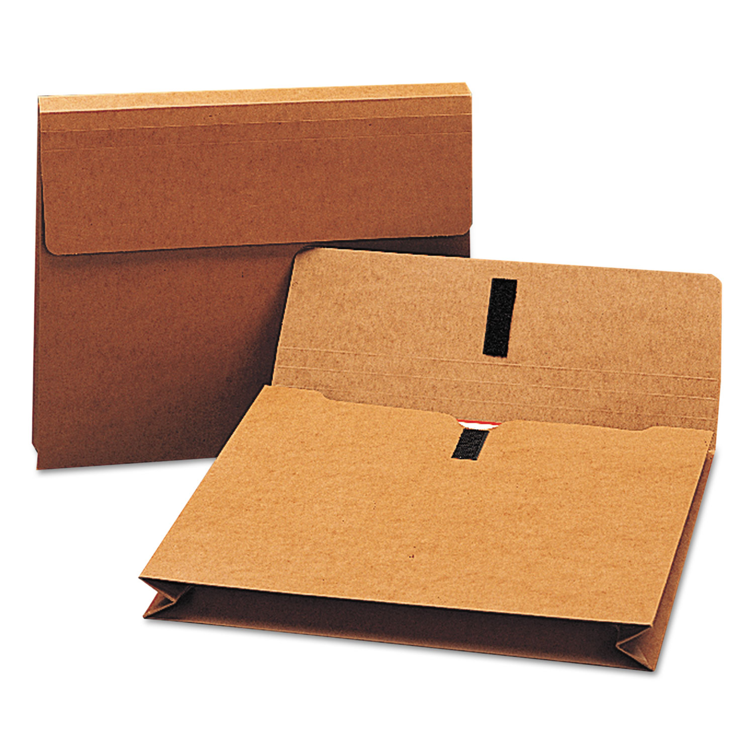 """Expanding Wallet w/ Hook and Loop Closure, 2"""" Expansion, 1 Section, Letter Size, Redrope"""