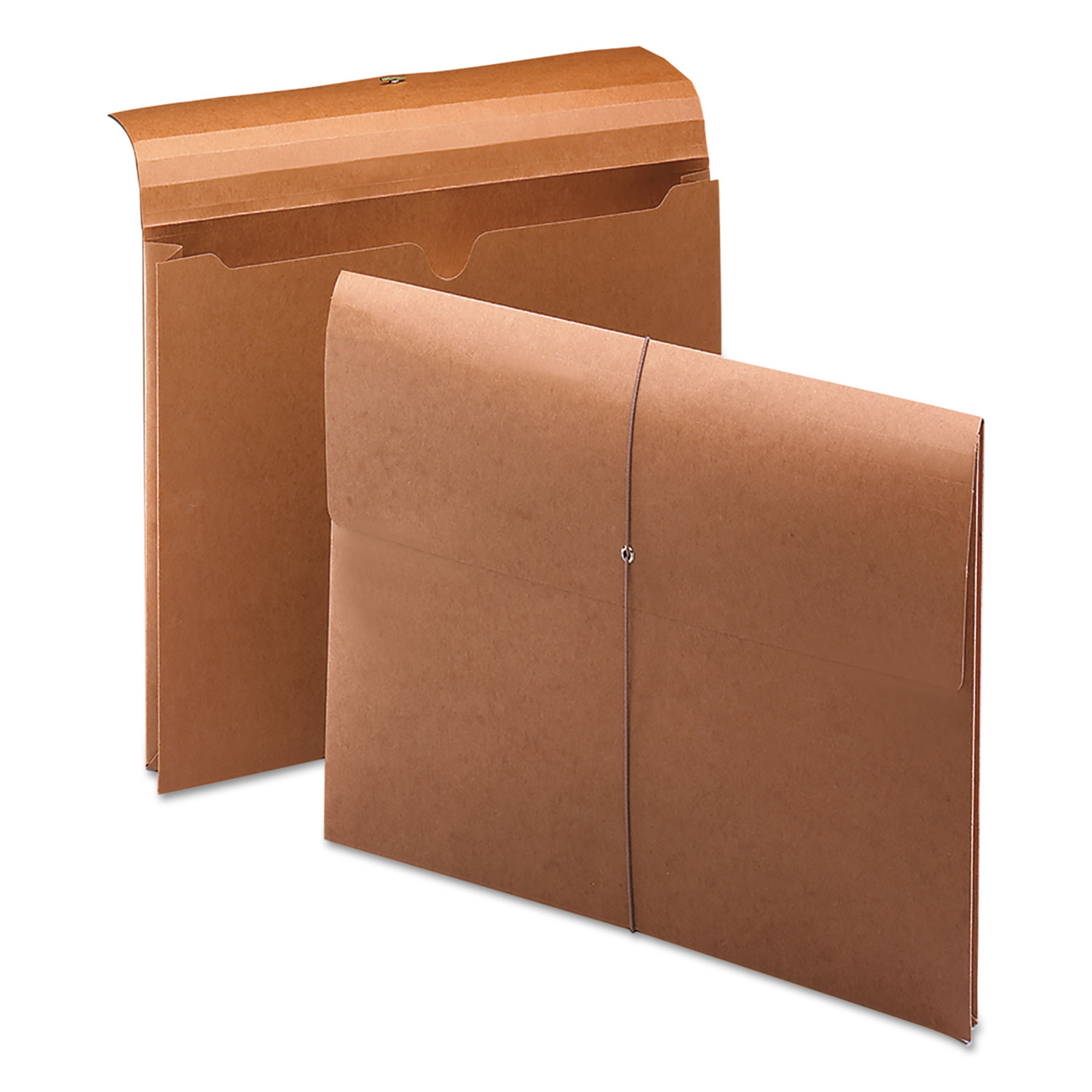 """Expanding Wallet w/ Elastic Cord, 2"""" Expansion, 1 Section, Letter Size, Redrope"""