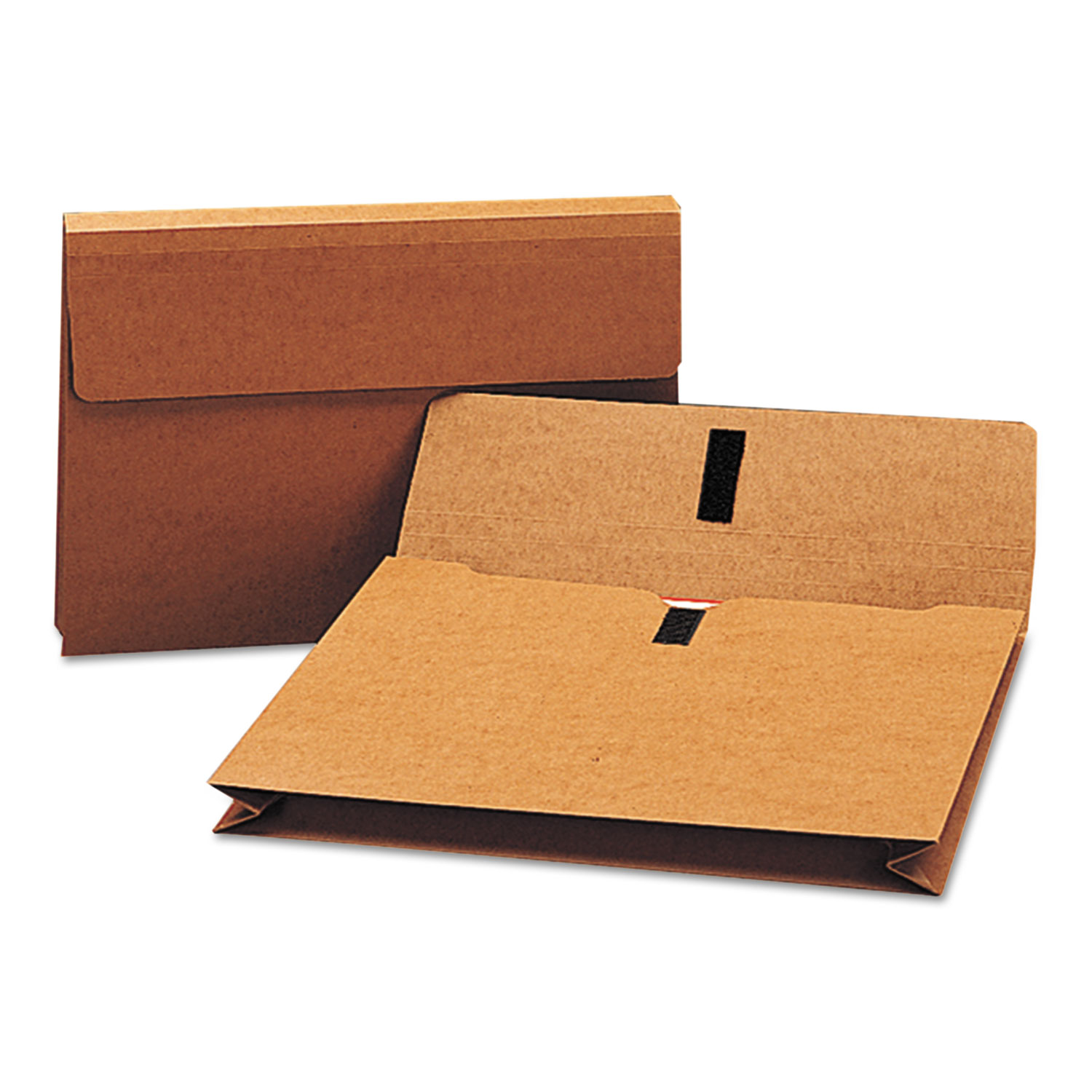 """Expanding Wallet w/ Hook and Loop Closure, 2"""" Expansion, 1 Section, Legal Size, Redrope"""