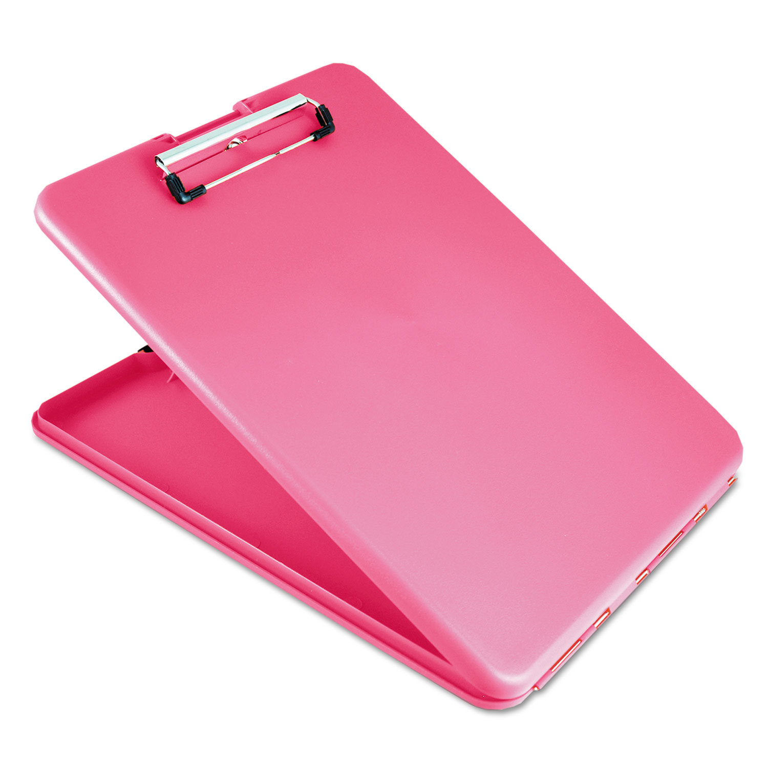 """SlimMate Storage Clipboard, 1/2"""" Clip Capacity, Holds 8 1/2 x 11 Sheets, Pink"""