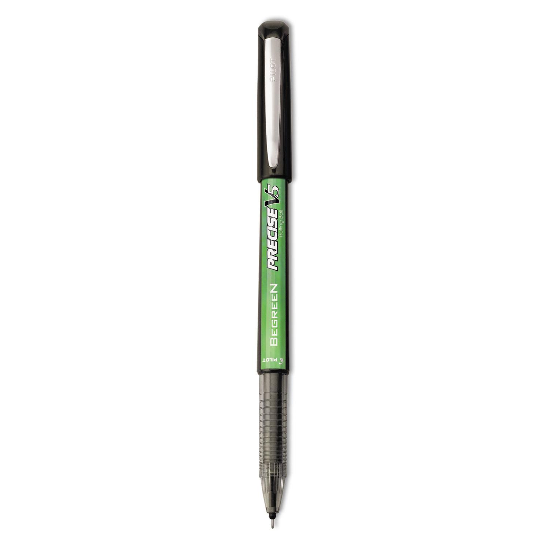 Pil26300 Pilot Precise V5 Begreen Roller Ball Stick Pen Zuma