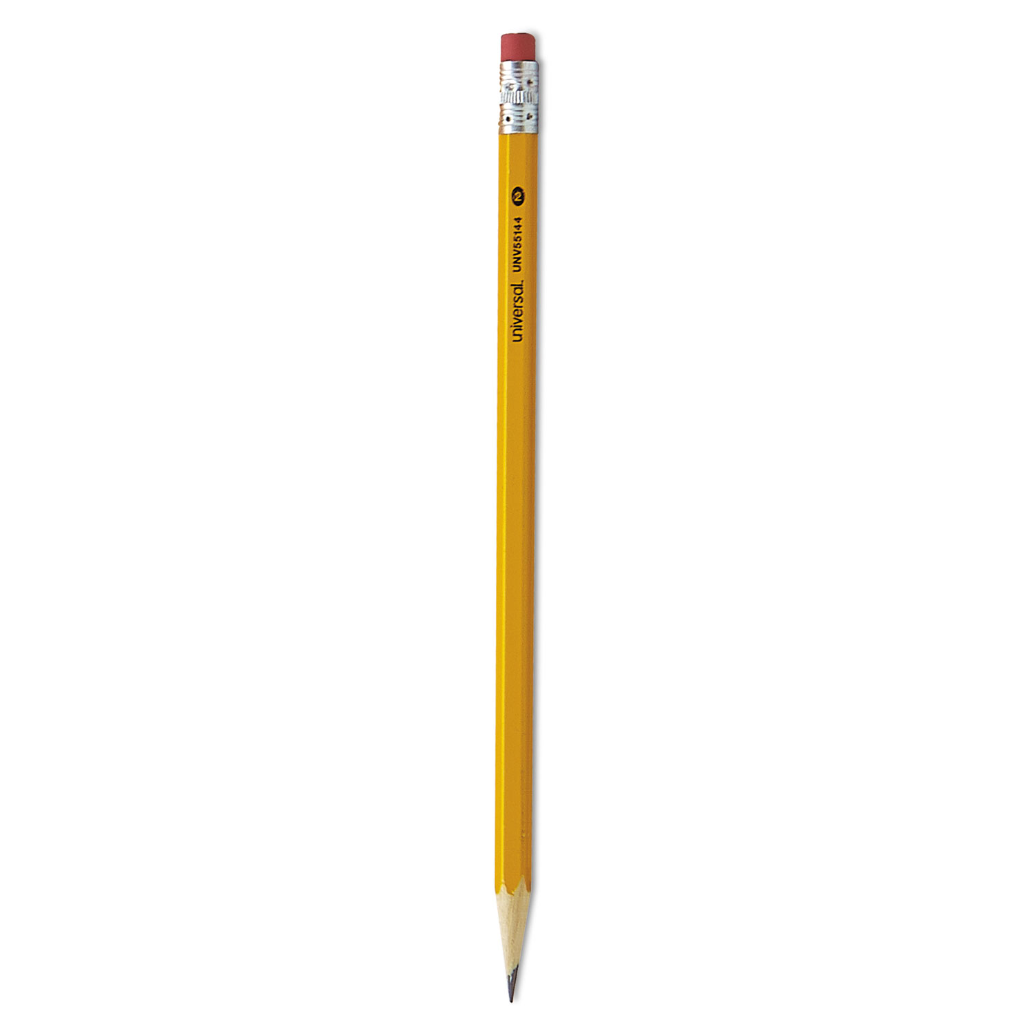 #2 Woodcase Pencil, HB (#2), Black Lead, Yellow Barrel, 144/Box