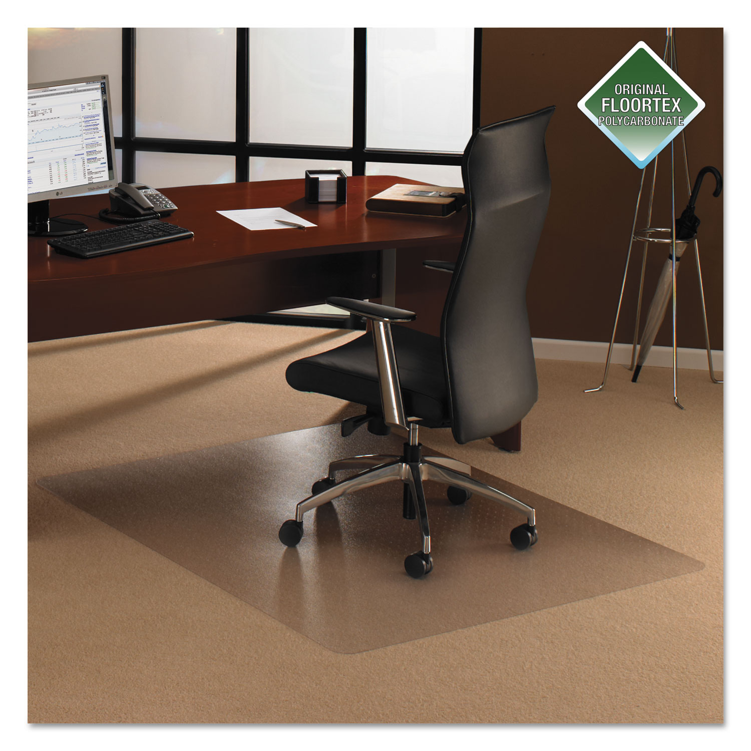 cleartex ultimat polycarbonate chair mat for low medium pile