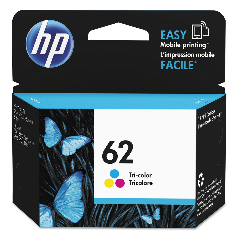 HP 62, (C2P06AN) Tri-color Original Ink Cartridge