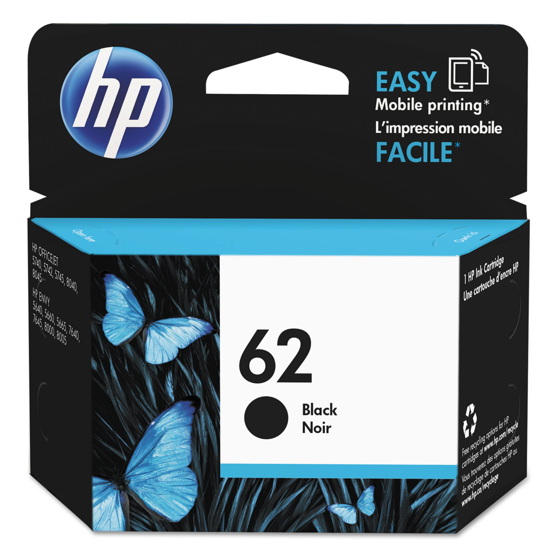 HP 62, (C2P04AN) Black Original Ink Cartridge