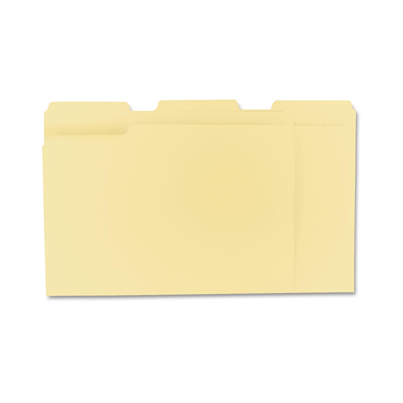 File folders by universalr unv12113 ontimesuppliescom for Manila file folders letter 3 tab