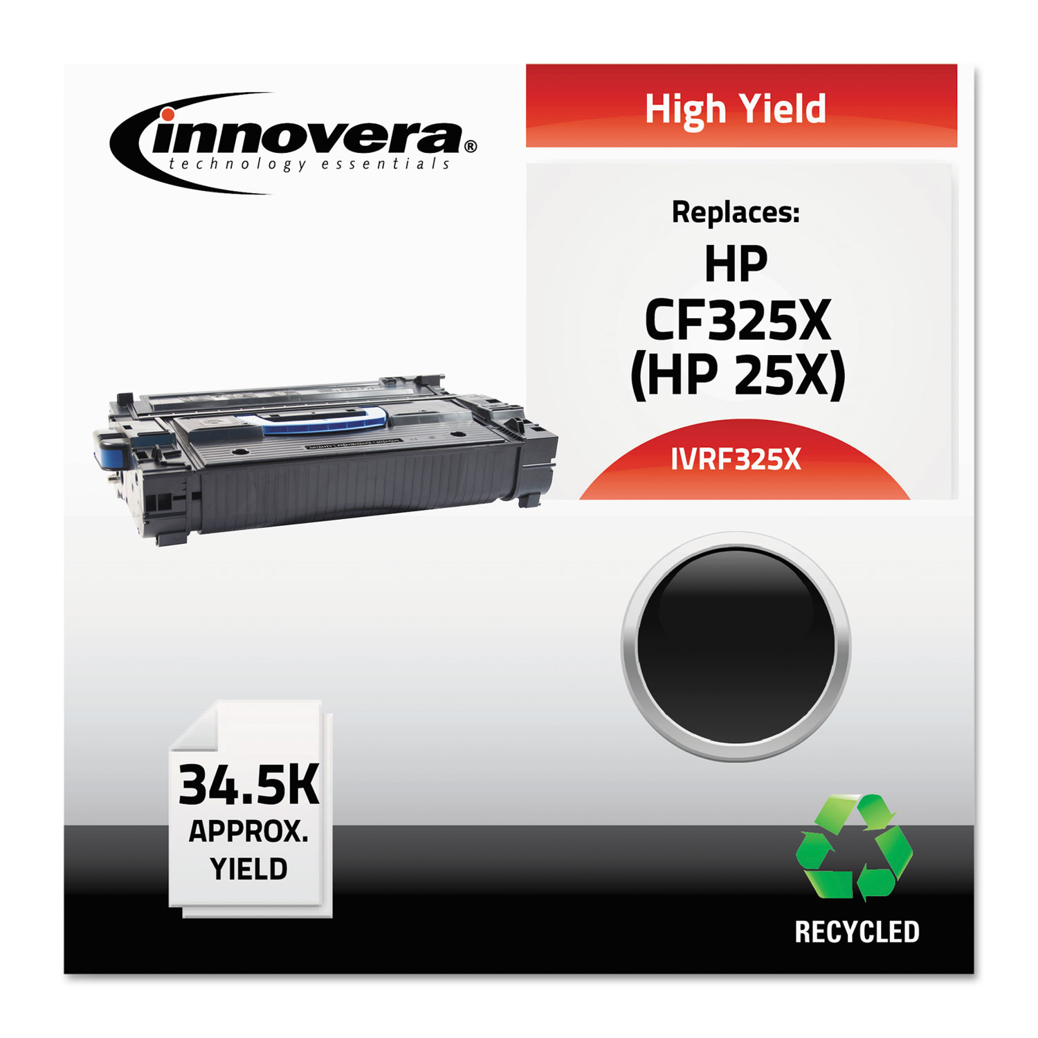 Remanufactured CF325X (25X) High-Yield Toner, 34500 Page-Yield, Black