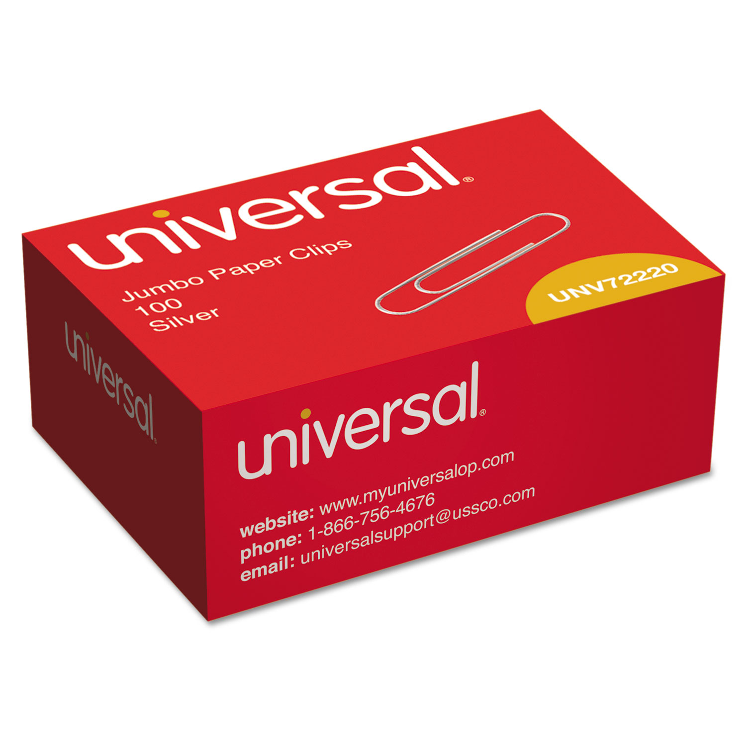 smooth paper clips by universal® unv72220 | ontimesupplies
