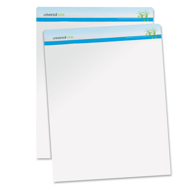 Renewable Resource Sugarcane Based Easel Pads, 27 x 34, White, 50 Sheets, 2/Carton UNV45600