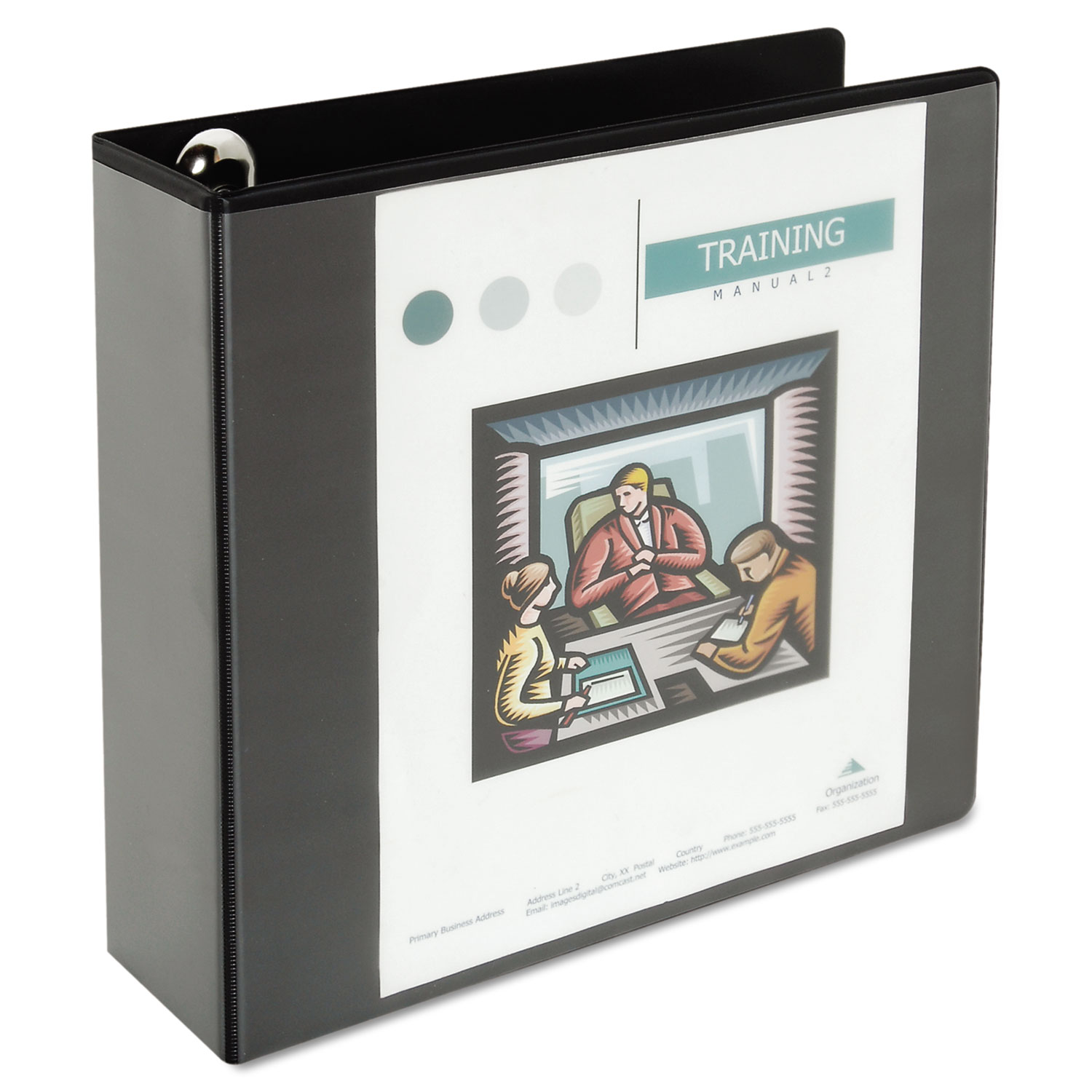 Deluxe Easy-to-Open Round-Ring View Binder, 3 Rings, 3