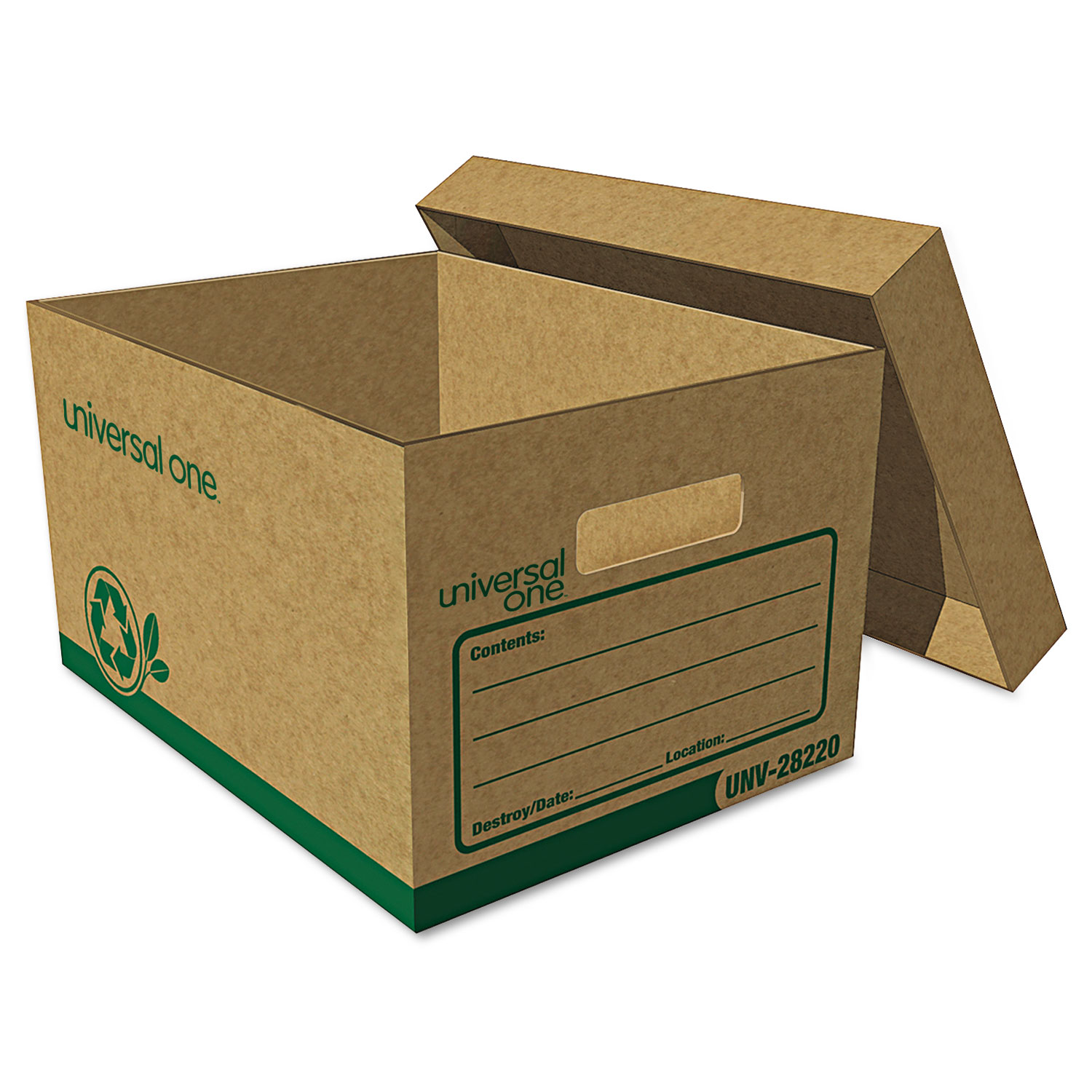 Recycled Record Storage Box, Letter/Legal, 12