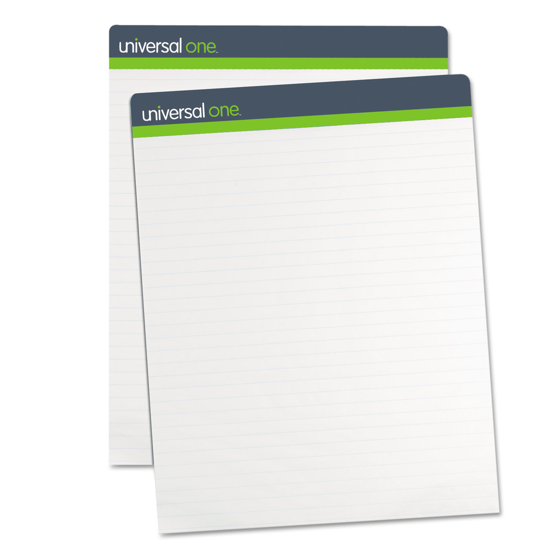 Renewable Resource Sugarcane Based Easel Pads, 27 x 34, White, 50 Sheets, 2/Carton UNV45602