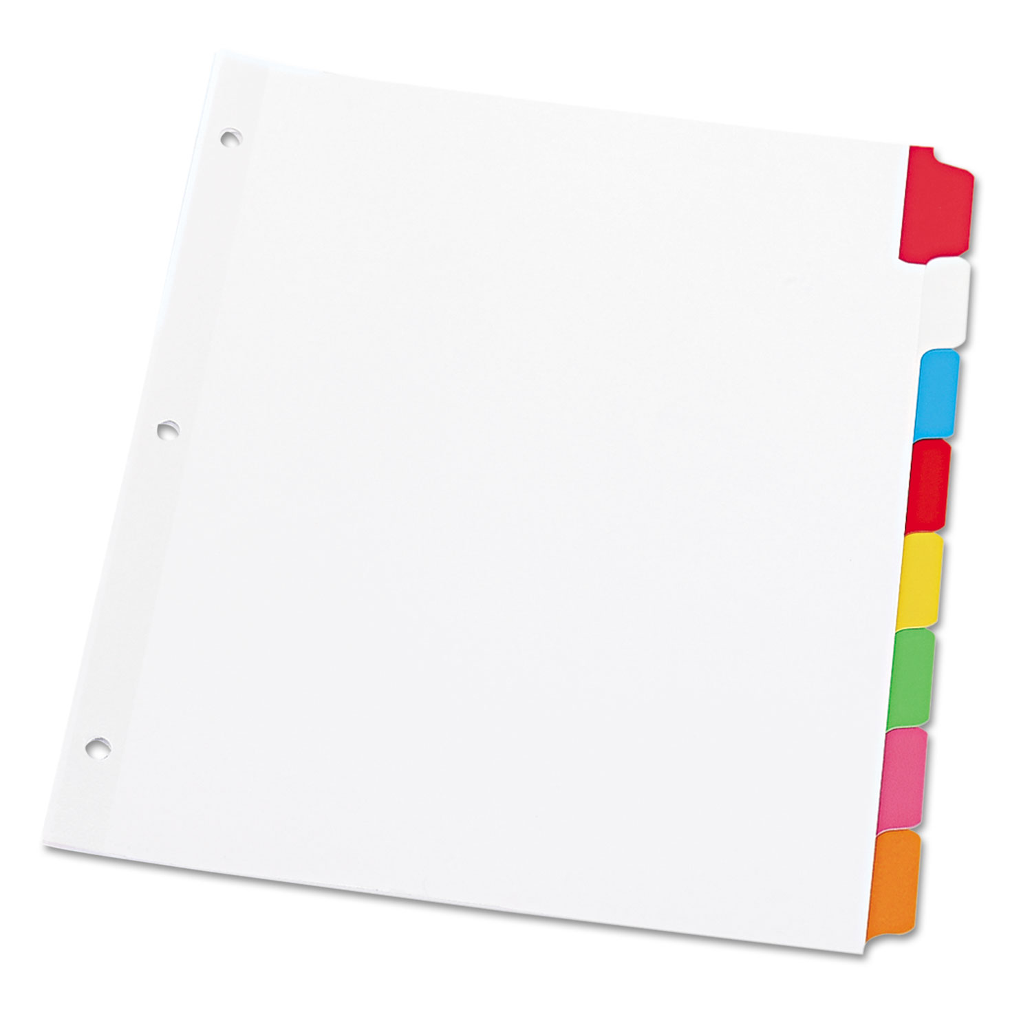 Deluxe Write-On/Erasable Tab Index, 8-Tab, 11 x 8.5, White, 1 Set