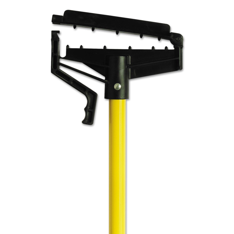 Quick-Change Mop Handle, 60, Fiberglass, Yellow, 6/Carton