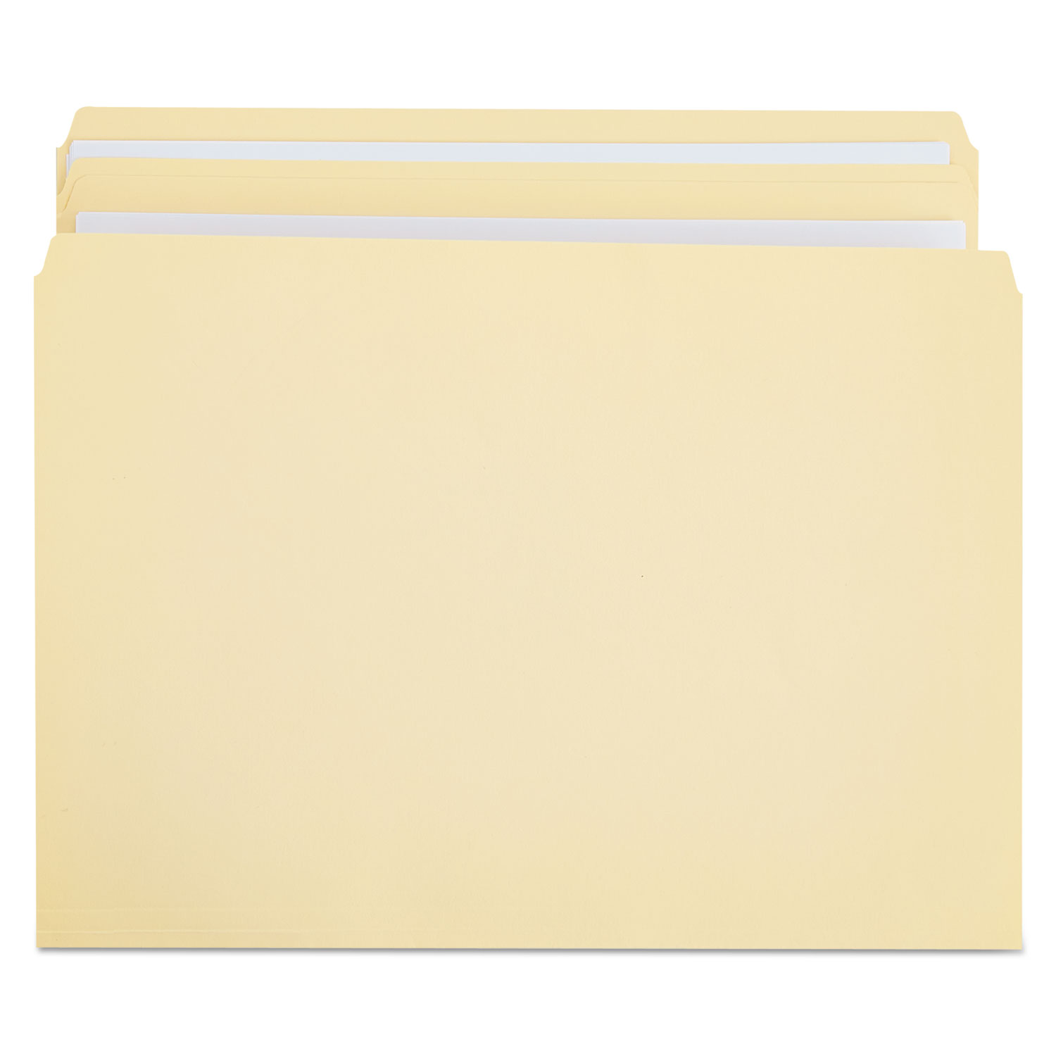 Double-Ply Top Tab Manila File Folders, Straight Tab, Letter Size, 100/Box