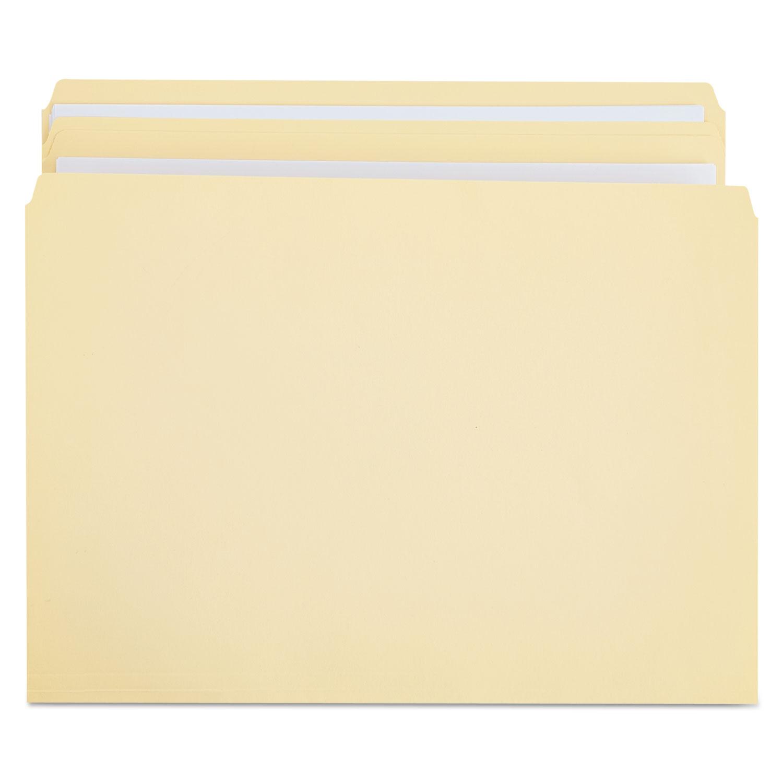 Double-Ply Top Tab Manila File Folders, Straight Tab, Legal Size, 100/Box