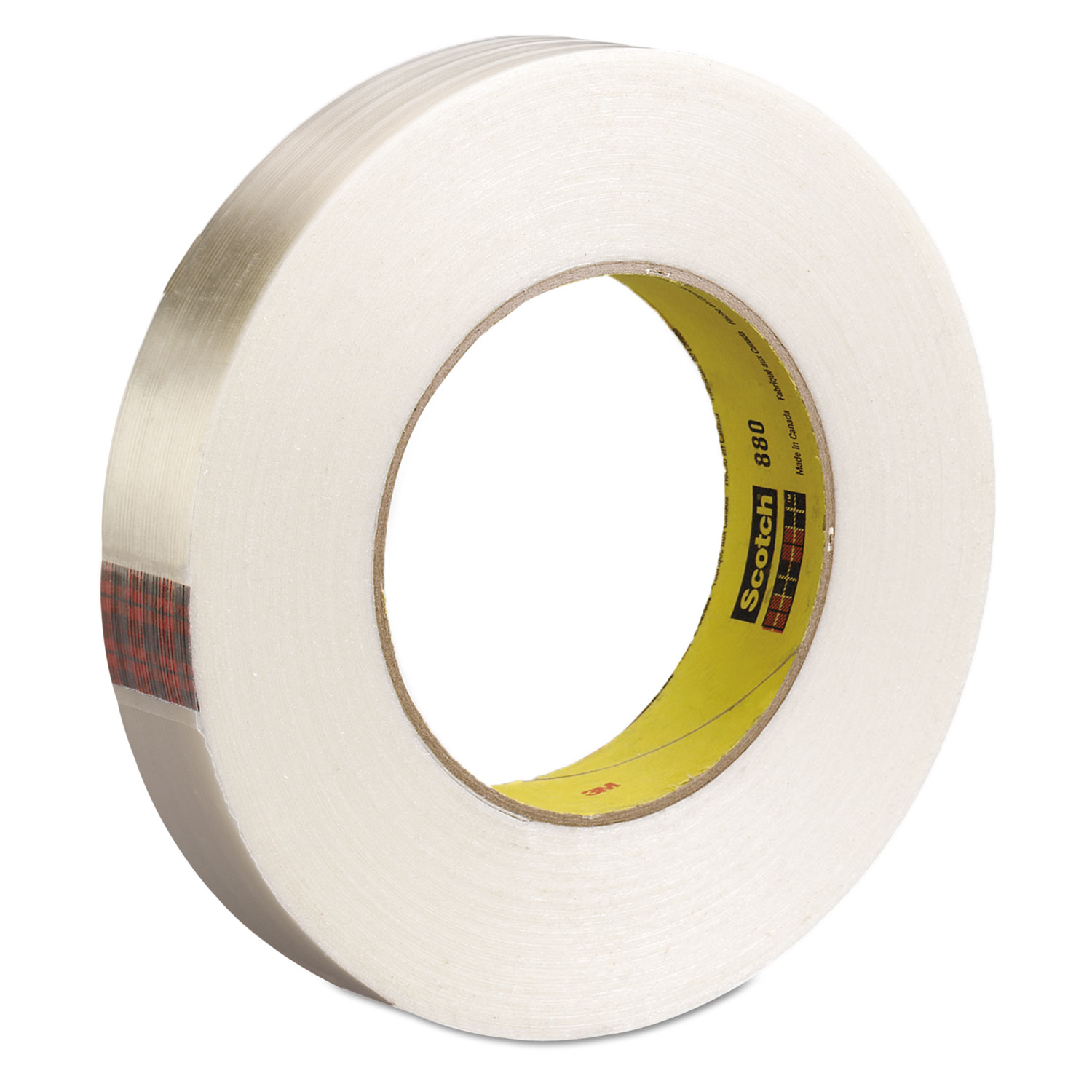 High-Strength Filament Tape, Rubber, 18mm x 55m, 3
