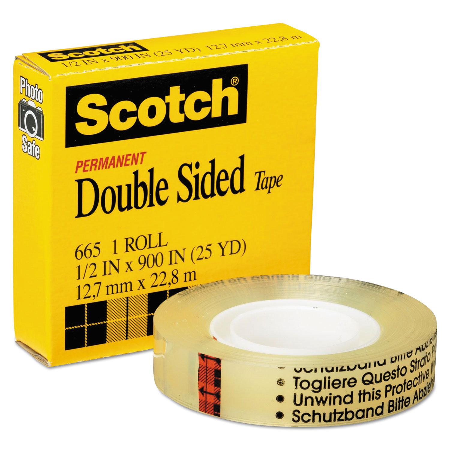 double sided tape by scotch mmm66512900. Black Bedroom Furniture Sets. Home Design Ideas