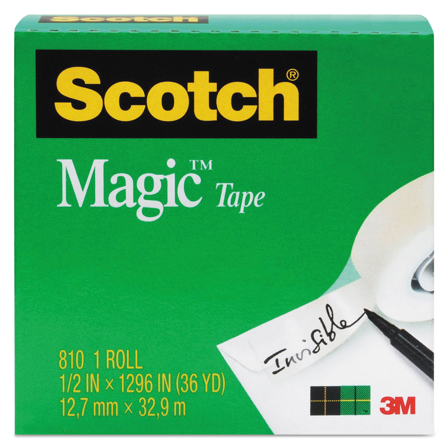 """Magic Tape Refill, 1"""" Core, 0.75"""" x 36 yds, Clear"""