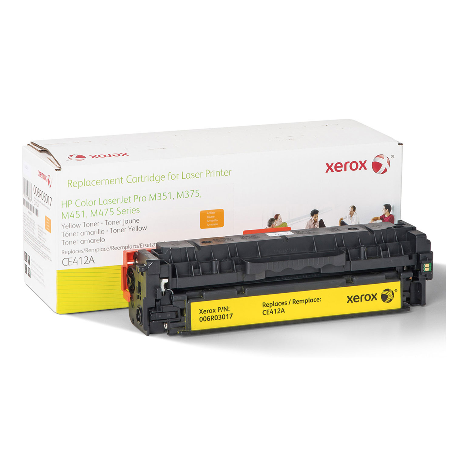 006R03017 Replacement Toner for CE412A (305A), Yellow XER006R03017
