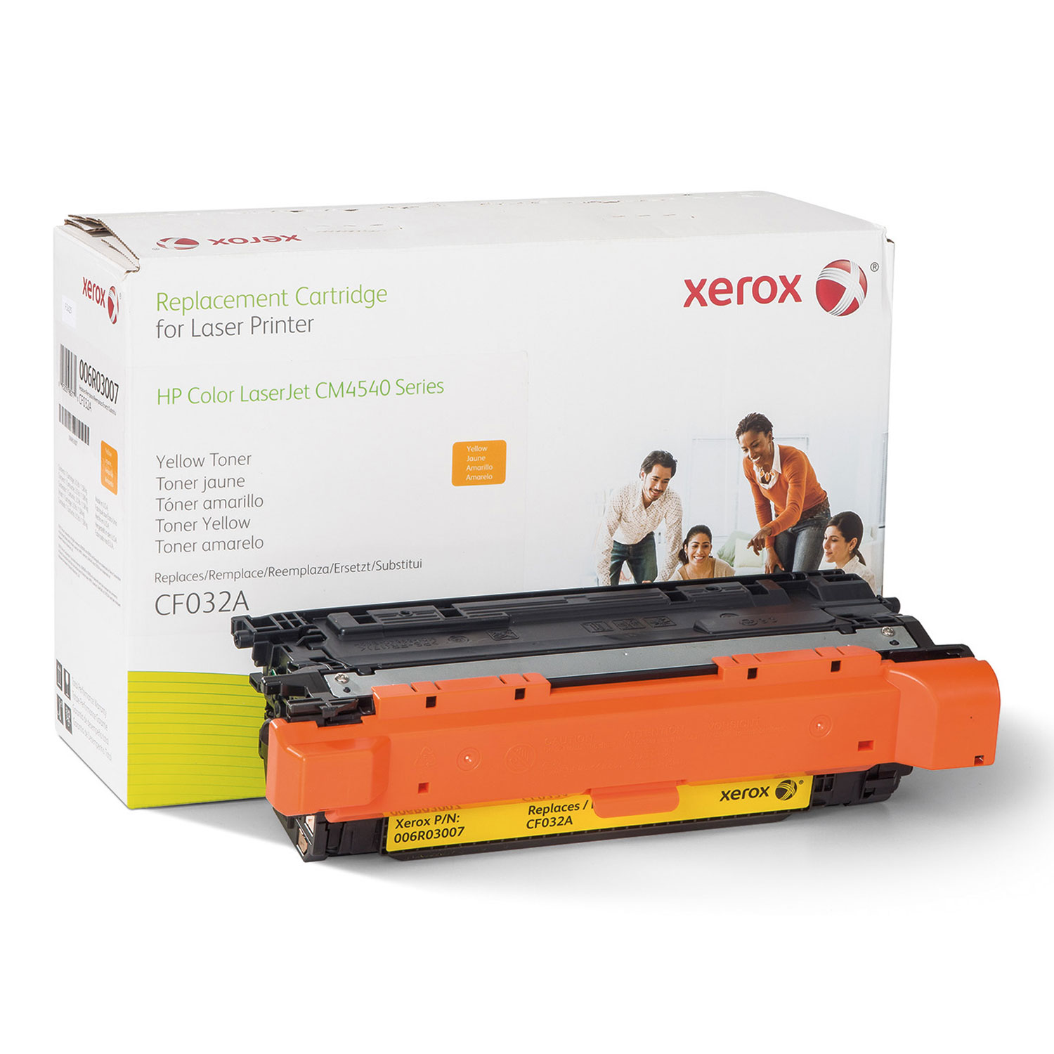 006R03007 Remanufactured CF032A (646A) Toner, 12500 Page-Yield, Yellow
