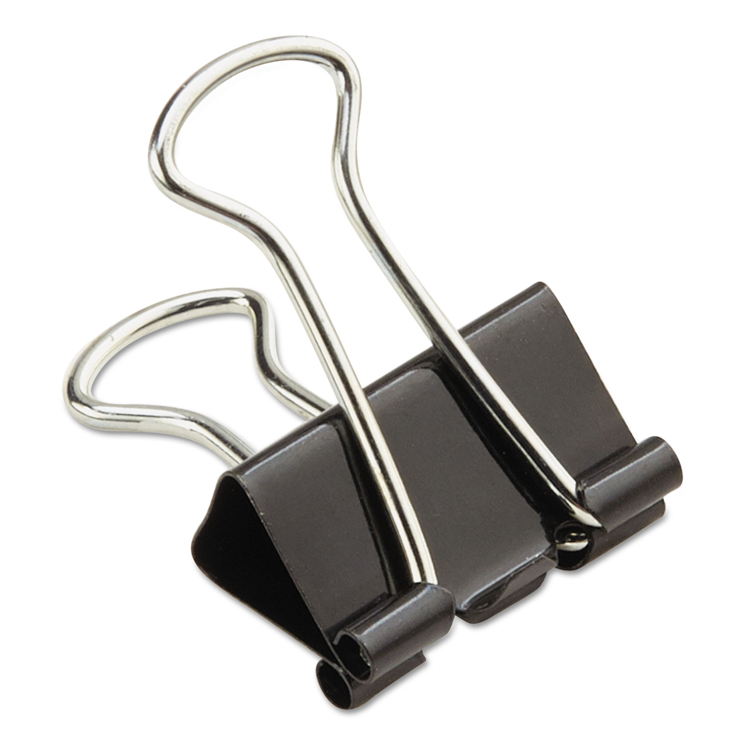 Binder Clips, Small, Black/Silver, 36/Pack