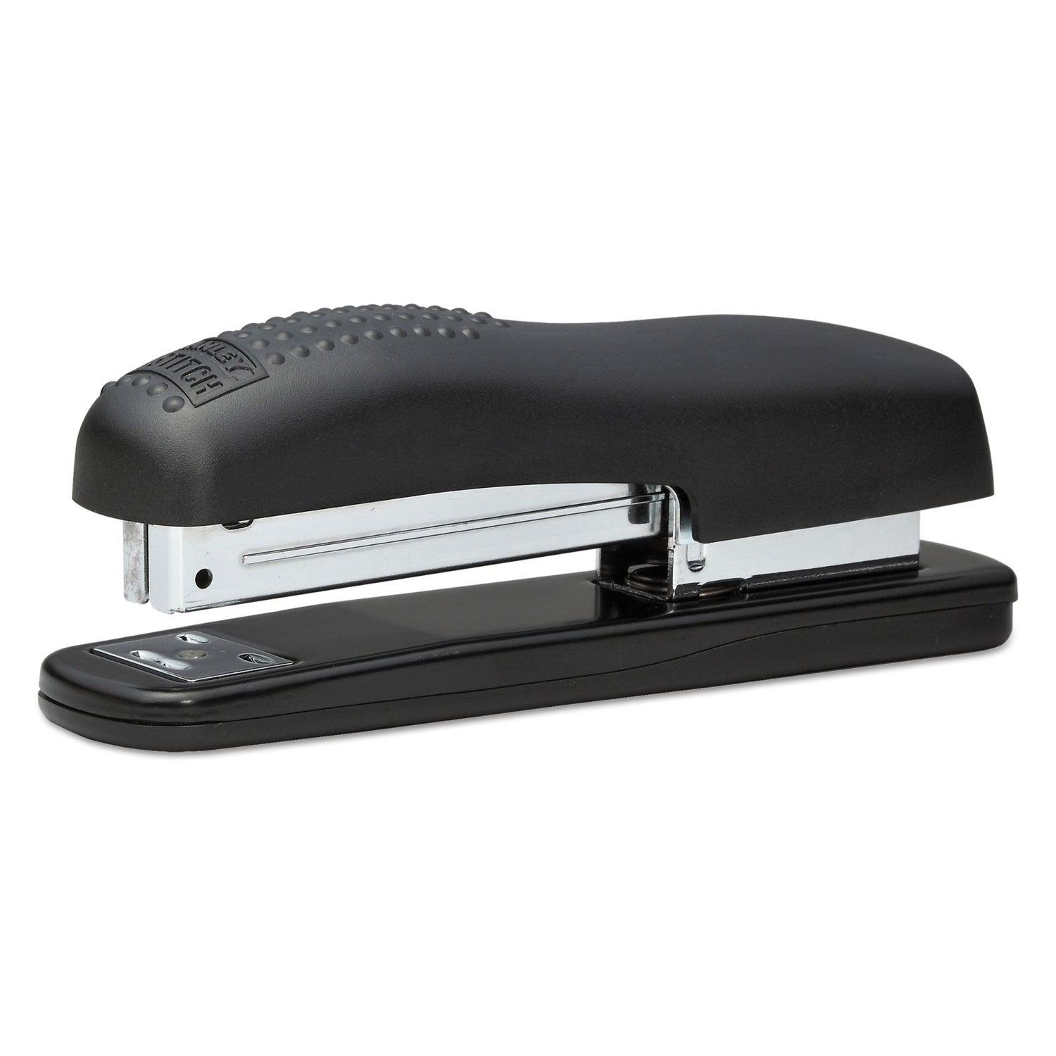 Ergonomic Desktop Stapler, 20-Sheet Capacity, Black