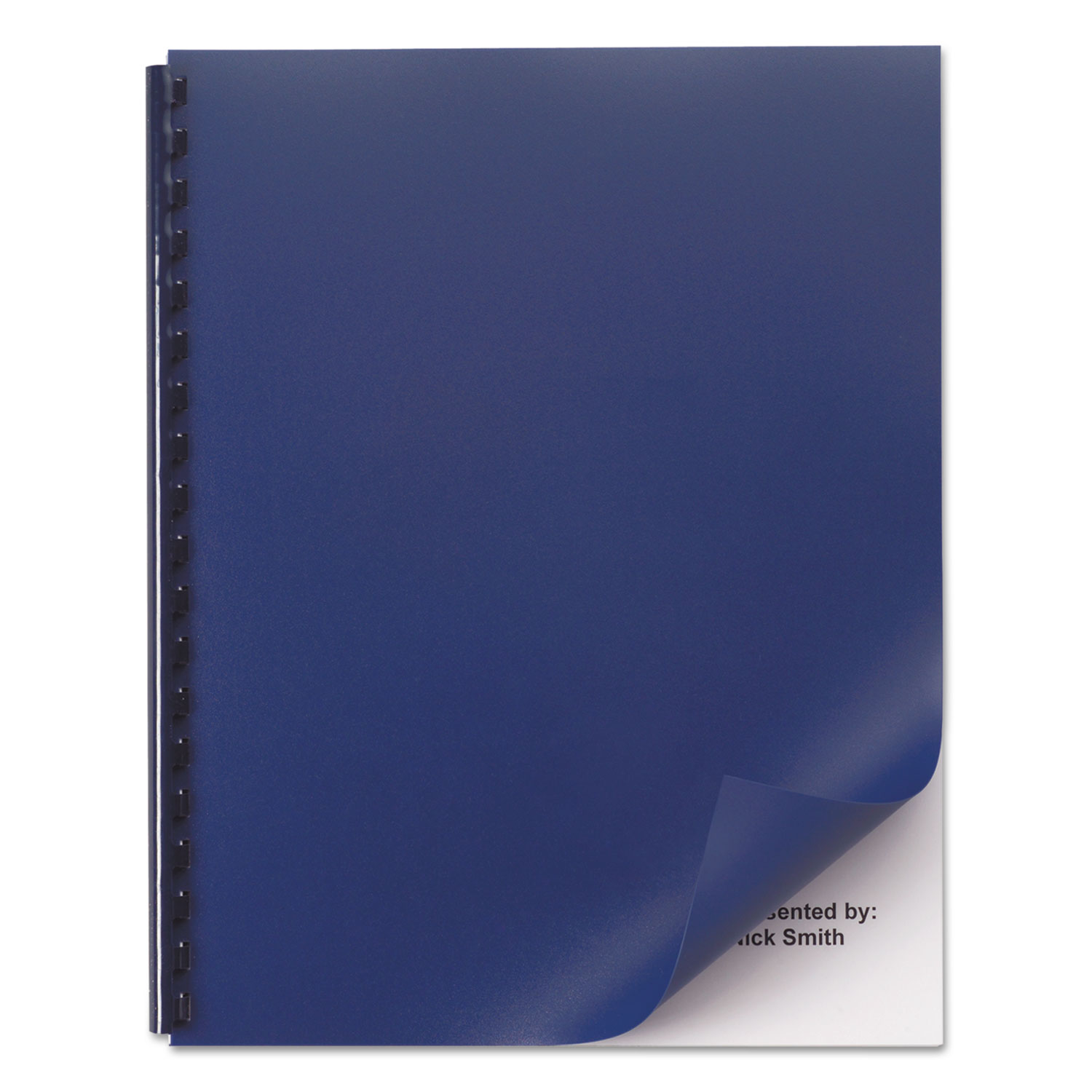 Opaque Plastic Presentation Binding System Covers, 11 x 8 1/2, Navy, 50/Pack