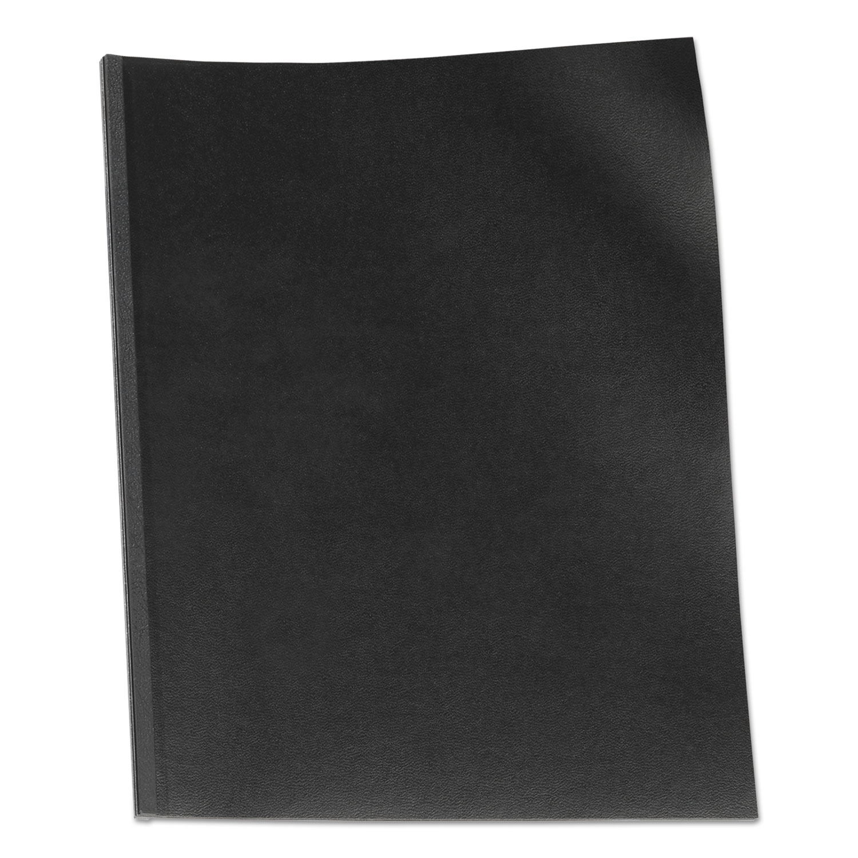 VeloBind Presentation Covers, 11 x 8 1/2, Black, 50/Pack