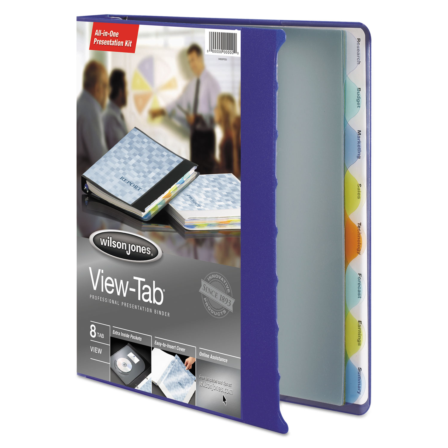 View-Tab Presentation Round Ring View Binder With Tabs, 3